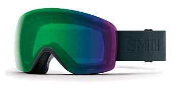 Smith Optics Goggles Skyline Deep Forest Flood/ChromaPop Everyday Green Mirror & Yellow