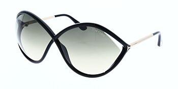Tom Ford Liora Sunglasses TF528 01B 70